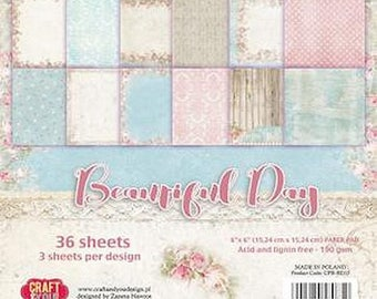 36 papers 15.2 x 15.2 cm Craft and you BEAUTIFUL DAY