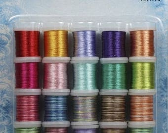 Set of 20 spools of thread to embroider cards lot 005