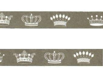 Washi Tape/Masking Tape/tape scrapbooking Crown black background