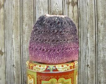 It's a Bird! It's a Plane! It's Another Purple Hat! Criss-Cross Messy Bun Women's Winter Hat (C6)