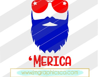 Merica svg, eps, dxf, png, cricut, cameo,scan N cut, cut file, 4th of july svg, fourth of july svg, independence day svg, manly svg, USA svg