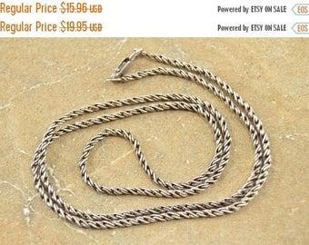 BIG SALE On Sale Fancy Twist Design Chain Link Necklace Sterling Silver 5.4g