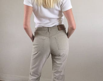 Vintage 90s Calvin Klein CK Taupe Cotton Twill Jeans