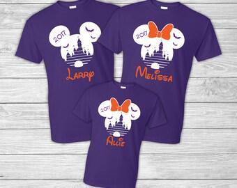 Halloween Personalized Disney Family Shirts - Bats - Mickey - Minnie - Custom Disney Shirts - Disney Trip - Walt Disney World