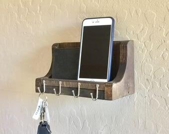 Mail Organizer, Key Holder, Key wall mounted rack