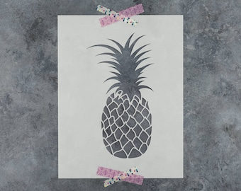 Pineapple Stencil - Reusable DIY Craft Stencils of a Pineapple