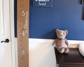 Growth chart, rustic growth chart ruler. Kids room decor. Baby Shower gift
