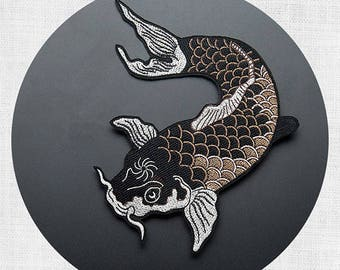 1pcs large patch large Carp embroidered patch iron on patches iron on patch sew on patchRN337