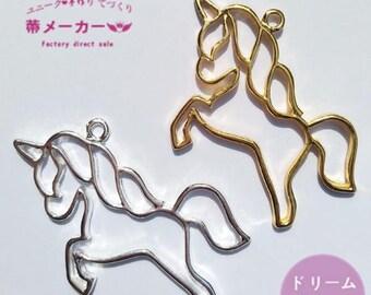 Unicorn open bezel,resin open bezel,open back bezel,uv resin,gold bezel,gold charm,resin charm