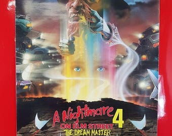 SALE Vintage Nightmare On Elm Street 4 Poster / 1980s Nightmare On Elm Street Dream Master Movie Advert 90s Pop Culture Collectible Movie Po