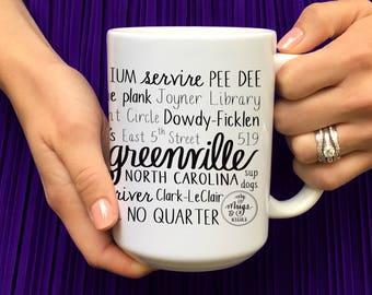 greenville east carolina university ecu pirates coffee mug graduation gift - Ecu Diploma Frame
