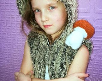 Hedgehog costume/Hedgehog hoodie/Hedgehog vest/Toddler Costume/Kids Costume/hedgehog dress up/handmade costume /Halloween costume