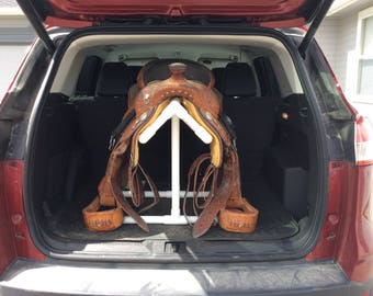 Taller Yellow Cool PVC Saddle Rack For Car/Trunk/Back Seat/Hatchback - EZ on Saddle Tree - Cool Yellow Color - SPECIAL order only