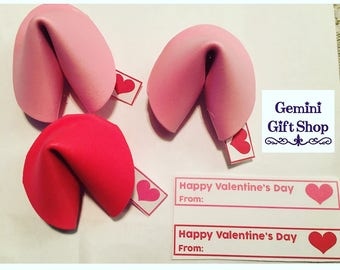 Valentine's Day Foam Fortune Cookies- Set of 30