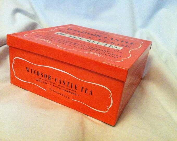 Vintage tin can Windsor Castle Tea decoration beautiful deco