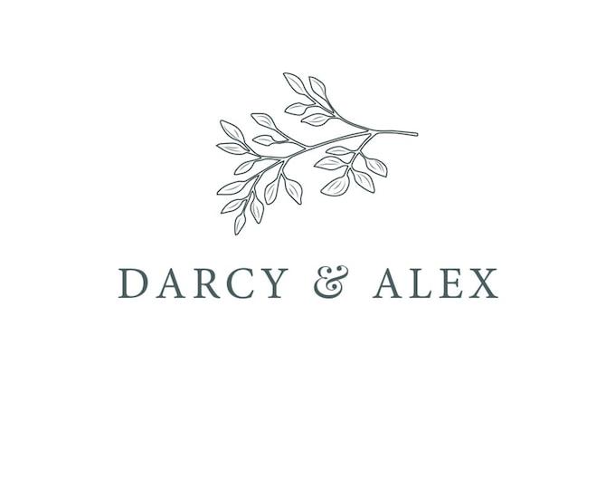 Featured listing image: Branch Custom Editable Logo, DIY Template, Charcoal Grey