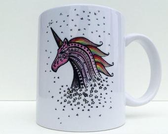 Unicorn Coffee Mug, Unicorn Mug, Unicornio, Unicorn Art, Unicorn Gifts, Unicorn Illustration, Rainbow Unicorn, Unicorn Cup, Einhorn