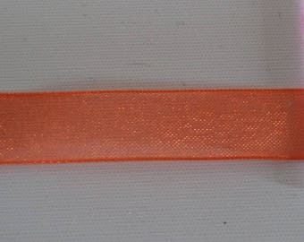 3 meters of Ribbon width orange organza 1.3 cm of superb quality