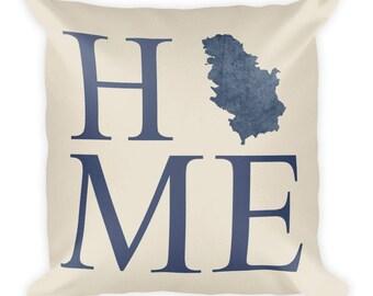 Serbia Pillow, Serbia Gifts, Serbian Decor, Serbia Home, Serbia Throw Pillow, Serbia Art, Serbia Map, Serbia Cushion, Serbian Art
