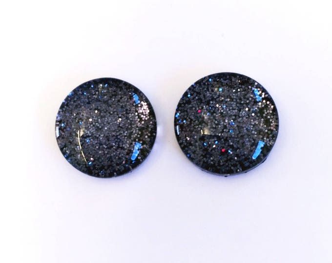 The 'Nightfall' Glass Glitter Earring Studs