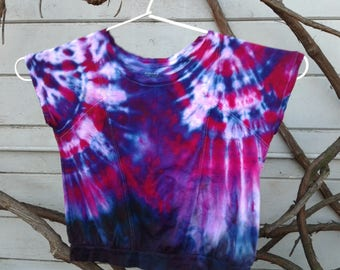 Upcycled and Tie Dyed shirt