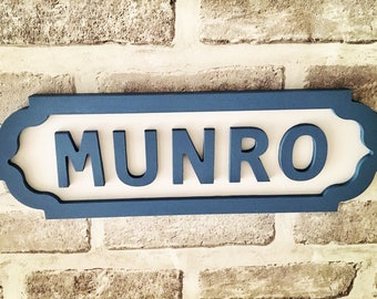 Personalised Street Signs, Road Signs, Family Names, Football Teams, Wedding Decor
