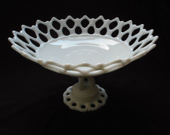 Antique 1940s Westmoreland Milk Glass Milkglass Bowl