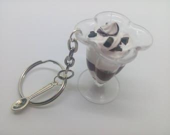 Chocolate ice cream Cup keychain
