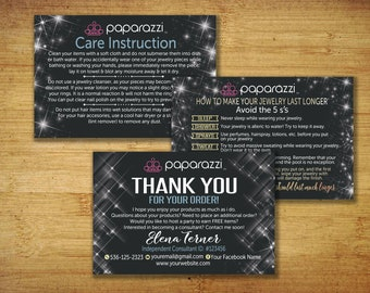 Paparazzi Thank You Cards, Paparazzi Care Instruction, Paparazzi Jewelry, paparazzi thank you, Thank You & Care, paparazzi accessories