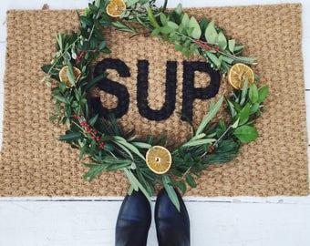 Sup Doormat. door mat.doormat funny. funny doormat.gift. doormat hi. sup door mat. SUP doormat . doormat hi. Funny . doormat sup.