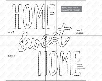 Home Sweet Home - String Art Template