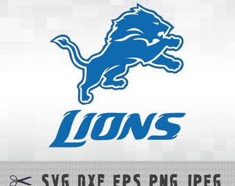 Detroit Lions SVG PNG DXF Logo Layered Cut File Silhouette Studio Cameo Cricut Design Template Stencil Vinyl Decal Transfer Iron on Tshirt
