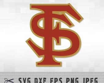 Florida State Seminoles SVG PNG DXF Logo Layered Vector Cut File Silhouette Cameo Cricut Design Template Stencil Vinyl Decal Transfer Iron