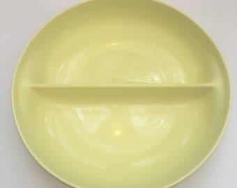 Russel Wright Lemon Serving Divided Bowl // 1950's // Serving Bowl