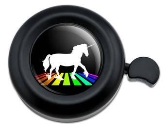 Unicorn Crossing Rainbow Bicycle Handlebar Bike Bell