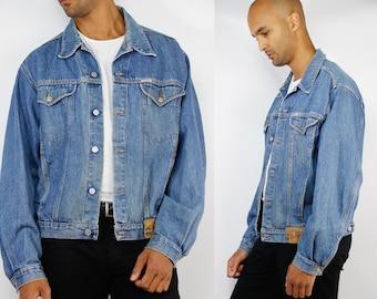 Jean Jacket / Denim Jacket / Vintage Jean Jacket / Vintage Denim Jacket / Jean Jacket Hipster / Hipster Jean Jacket / Pilot Denim Jacket