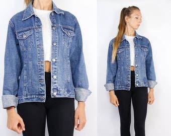 Jean Jacket Vintage / Denim Jacket Vintage / Denim Jacket Blue / Jean Jacket Blue / Trucker Jacket / Grunge Jacket / Hipster Jean Jacket