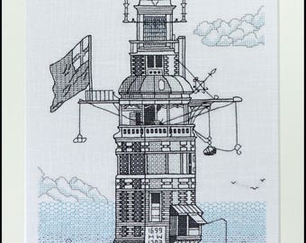 Winstanley's 2nd Lighthouse Blackwork Embroidery Kit