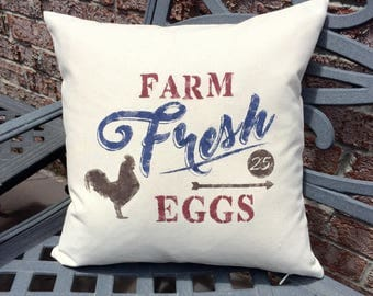 Farm Fresh Eggs Pillow