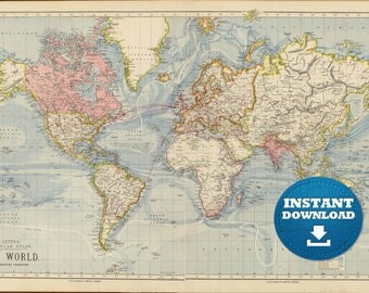 Digital old world map hight printable download vintage digital old world map hight printable download vintage world map large world map gumiabroncs Image collections