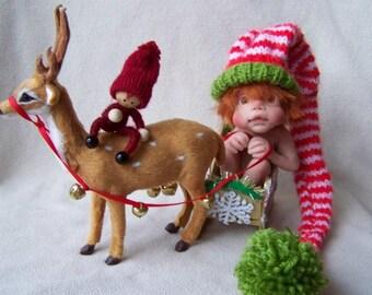 OOAK Ginger Santas helper Elf by Malga