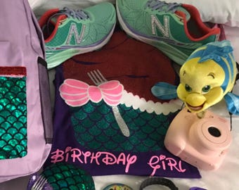 Disney Little Mermaid cupcake birthday shirt