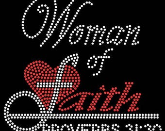 Woman of Faith Rhinestone Tee!  Only 5 left!