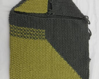 knitted gray and green Bunting
