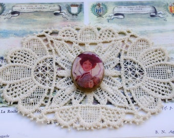 Vintage brooch - Vintage lucite plastic