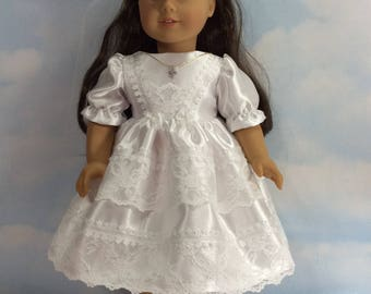 "First communion dress and vail for 18"" doll"