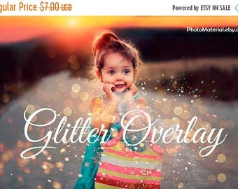 ON SALE Photography Overlay Blowing Glitter Overlays Confetti Photo layer blow magic Wedding Gold Falling glitter confetti