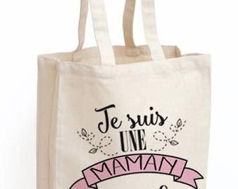 "Tote bag Mama ""I'm a MOM who rocks"""