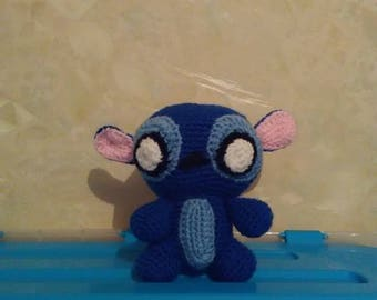 Handmade blue blanket Stitch