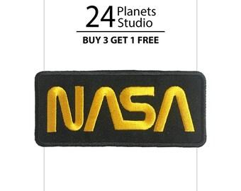 Yellow NASA Iron on Patch by 24PlanetsStudio
